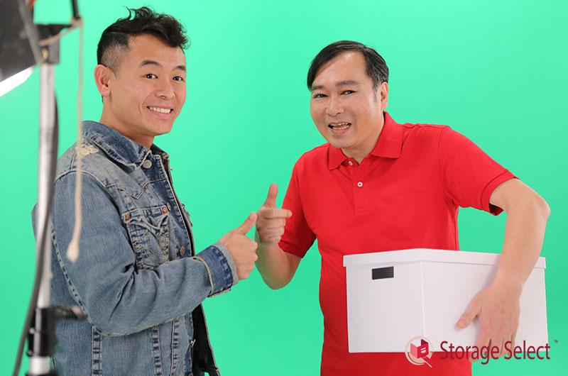 Storage Select主理人Yuku Ng與劉以達交換揀迷你倉的心得。